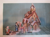 San Francisco Music Box Co. Lighted 6pc. Old World Church-New in Box in Beaufort, South Carolina