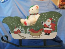 Large Santa hand-painted Sleigh w/Ty Bear-Garland in Beaufort, South Carolina