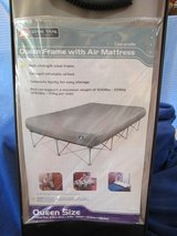Queen-size Frame w/Air mattress-Compact, easy to store in Beaufort, South Carolina