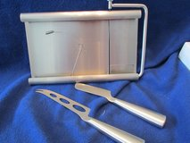 Stainless Steel 3pc. Cheese serving set- New in Box in Beaufort, South Carolina