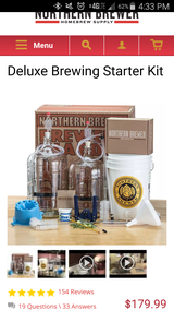 Deluxe Beer Brewing Kit with accessories and $110 worth of beer kits. in Camp Lejeune, North Carolina