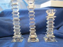 Sorelle Cyrstal Trio Tower Candlesticks. New in Box in Beaufort, South Carolina