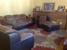 Sectional microfiber with chair and ottoman in Fort Lewis, Washington