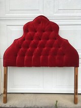 Vintage Red Velvet Tufted Twin Headboard in Byron, Georgia