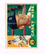 1960 #342 CASEY WISE DETROIT TIGERS TOPPS BASEBALL CARD in Naperville, Illinois