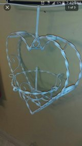 Shabby chic heart metal plant holder in Naperville, Illinois