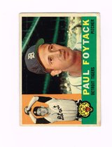 1960 #364 PAUL FOYTACK DETROIT TIGERS TOPPS BASEBALL CARD in Naperville, Illinois