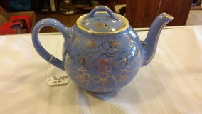 Vintage Blue and Gold Hall Teapot in 29 Palms, California