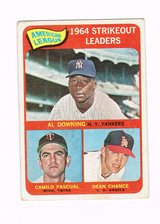 1965 # 011 AMERICAN LEAGUE 1964 STRIKEOUT LEADERS TOPPS BASEBALL CARD in Morris, Illinois