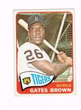 1965 # 019 GATES BROWN TIGERS OUTFIELD TOPPS BASEBALL CARD in Morris, Illinois