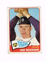 1965 # 375 DAVE WICKERSHAM TIGERS PITCHER TOPPS BASEBALL CARD in Morris, Illinois