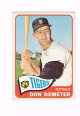 1965 # 429 DON DEMETER TIGERS OUTFIELD TOPPS BASEBALL CARD in Morris, Illinois