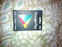 $50 Google Play Card (NEVER USED) in Baytown, Texas