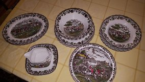 Dishes old english style handpainted in Baumholder, GE