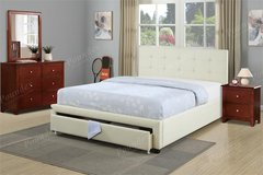 NEW QUEEN PLATFORM  BED WITH STORAGE DRAWER in Riverside, California