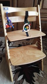 Wooden,sturdy ,high chair BO1 for toddler in Ramstein, Germany
