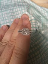 10k Princess & Round Halo Diamond Ring Jewelry & Accessories in Los Angeles, California