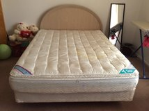 Queen Pillow Top Waterbed With Beige Head Board And 7 Drawer Dresser in Alamogordo, New Mexico