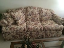 Floral print couch and love seat in DeKalb, Illinois