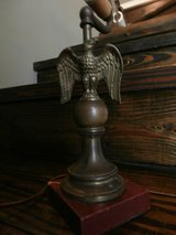 Vintage brass eagle lamp in Cleveland, Texas
