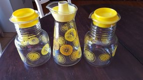 3 Vintage pyrex glass juice pitchers in Plainfield, Illinois