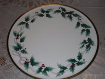 mikasa ribbon holly cake plate in Batavia, Illinois