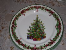 4 christophper radko xmas dinner plates in St. Charles, Illinois
