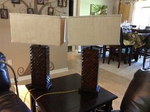 Table Lamps (Dark Brown) in Eglin AFB, Florida