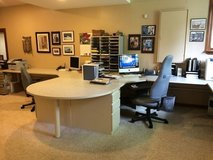 MODULAR OFFICE WORK STATION with FILE CABINETS in Bolingbrook, Illinois