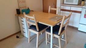Table+ 3 chairs in DeKalb, Illinois