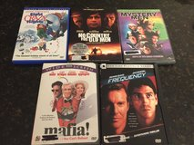 5 DVDs-Mafia, Mystery Men, Frequency, No Country for Old Men & 8 Crazy Nights in Bolingbrook, Illinois