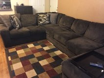 Brown Sectional with ottoman in Colorado Springs, Colorado