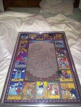 Disney Beauty and the Beast Etched mirror with stained glass in Bartlett, Illinois