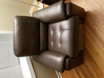 Brown Leather Electric Recliner in Naperville, Illinois
