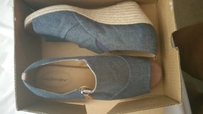 Size 12W Denim Wedges $30 OBO in Jacksonville, Florida