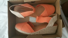Size 12W Orange Wedges $40 OBO in Jacksonville, Florida
