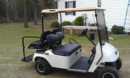 2006 EZGO Gas Golfcart 4 seater with flip down back seats. in Columbus, Georgia