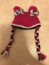 Baby crochet hat with clippies in DeKalb, Illinois