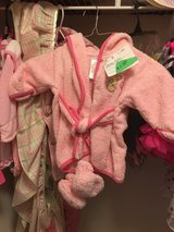 Baby robe and booties in DeKalb, Illinois