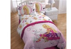 Barbie Twin/Full Bedding Comforter/Sheet Set in Chicago, Illinois