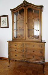 Cherrywood Chippendale China Cabinet in Ramstein, Germany