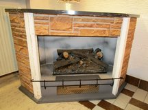 Simulated Fireplace with Heater Formika Top in Ramstein, Germany