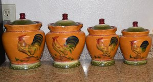 Rooster Canisters in Vacaville, California