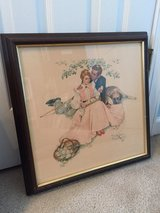 "Vintage Norman Rockwell Print ""Flowers in Tender Bloom"" in Camp Lejeune, North Carolina"