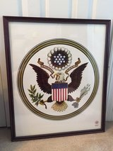 "1976 ""American Bicentennial"" Framed, Commemorative Print in Camp Lejeune, North Carolina"