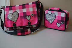 Justice Tote/Backpack with Lunch Box (Pink Checkered w/ Hearts) in Chicago, Illinois