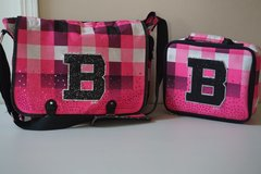 "Justice Tote/Backpack w/ Lunch Box (Pink Checkered w/ ""B"") in Chicago, Illinois"