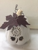 Off White Ceramic Pumpkin Votive Holder in Kingwood, Texas