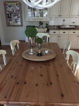 Pottery Barn Rustic Farmhouse Kitchen Table & 6 Chairs in Naperville, Illinois