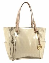 New Michael Kors Women's Signature Patent East West Tote in Gold in Osan AB, South Korea